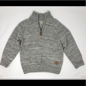 H&M Toddler Boy Sweater Grey Quarter Zip 2-4 Years